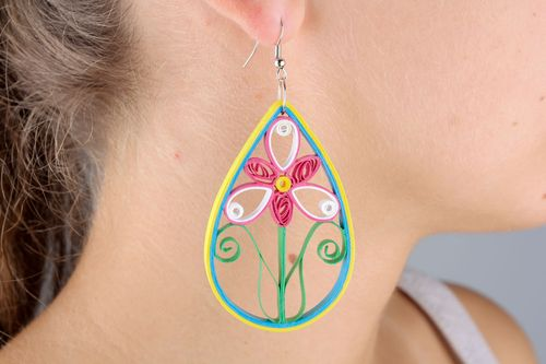 Long quilling earrings - MADEheart.com