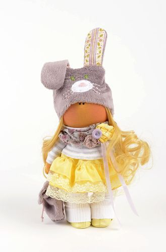 Homemade toy plush doll girl doll unique toys gifts for girls nursery decor - MADEheart.com