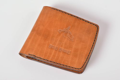 Handmade leather wallet card holder wallet handmade leather goods gifts for him - MADEheart.com