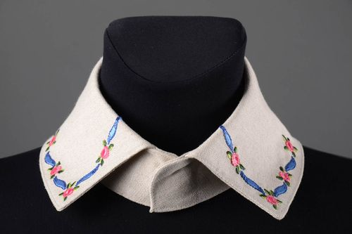 Beautiful handmade textile collar sewing ideas fashion accessories for girls - MADEheart.com
