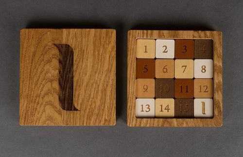 Wooden 15 Puzzle in the box - MADEheart.com