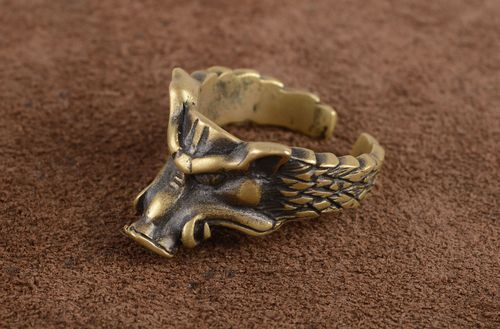 Men ring handmade bronze ring for men metal jewelry fashion accessories - MADEheart.com