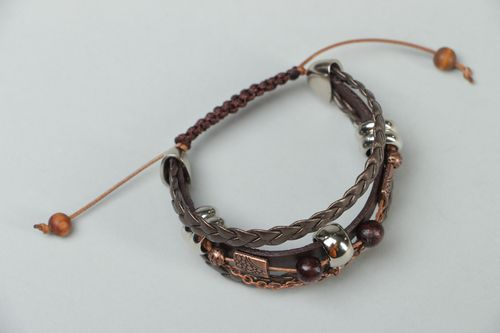 Handmade genuine leather bracelet Viper - MADEheart.com