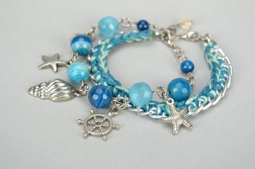 Bracelet with metal charms - MADEheart.com