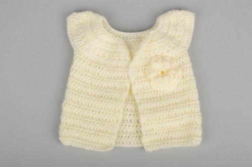 Handmade crocheted vest stylish unusual children clothes beautiful vest - MADEheart.com