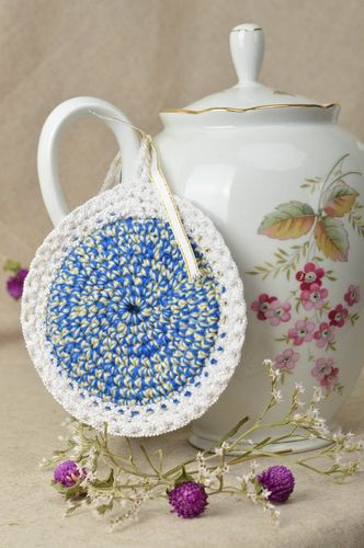 Beautiful handmade crochet pot holder crochet potholder kitchen utensils - MADEheart.com