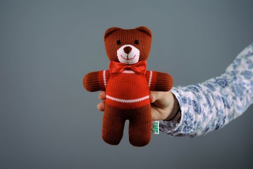 Soft knitted toy Bear - MADEheart.com