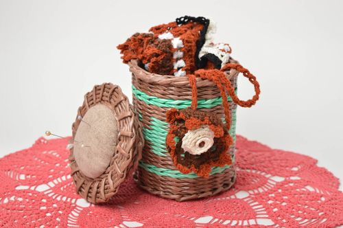 Handmade decorations paper basket decorative basket homemade home decor - MADEheart.com