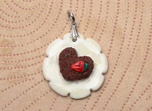 Interesting polymer clay pendant - MADEheart.com