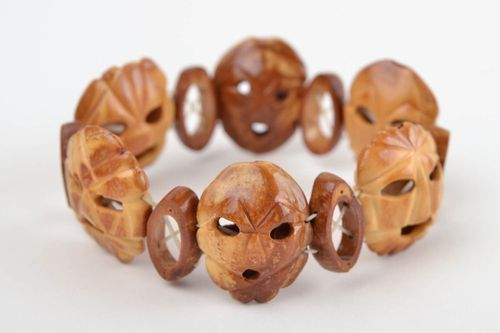 Handmade bracelet wooden jewelry homemade jewelry bead bracelet gifts for women - MADEheart.com