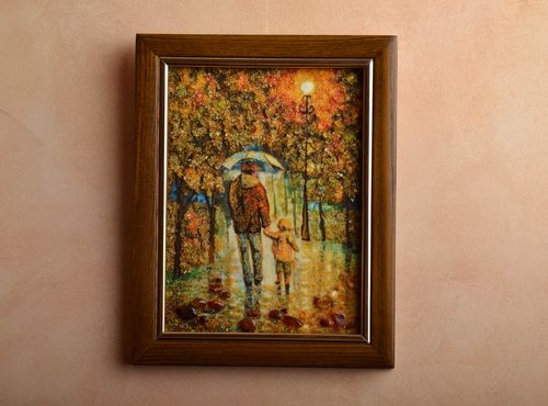Handmade amber decorated painting - MADEheart.com