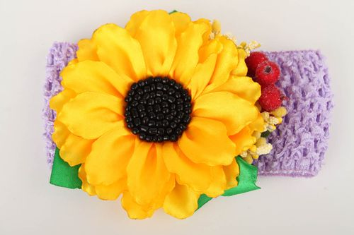 Handmade headband kids hair accessories flower headband gifts for girls - MADEheart.com