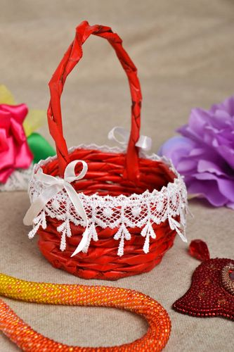 Handmade beautiful basket stylish home decor ideas woven basket for kitchen - MADEheart.com