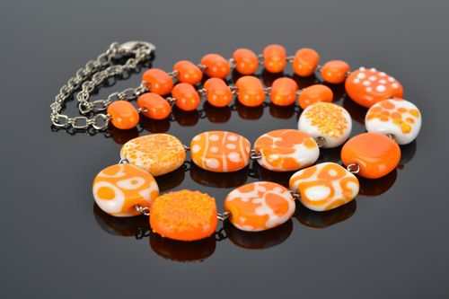 Lampwork beaded necklace  - MADEheart.com