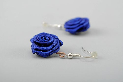 Earrings Blue Rose - MADEheart.com