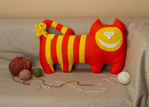 Pillow toy Orange Cat - MADEheart.com