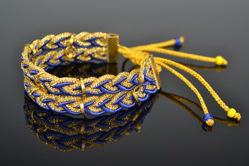 Blue and yellow friendship bracelet - MADEheart.com
