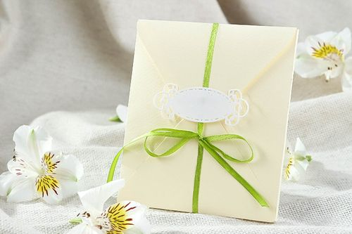 Beautiful handmade invitation envelope wedding invitation wedding accessories - MADEheart.com