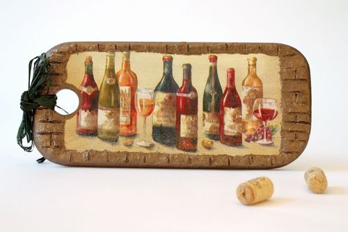Decorative cutting board In vino veritas - MADEheart.com