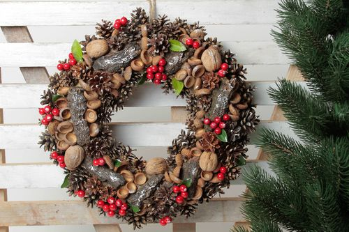 Beautiful handmade door wreath Christmas gifts home design decorative use only - MADEheart.com