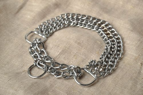 Chain dog collar in three rows - MADEheart.com