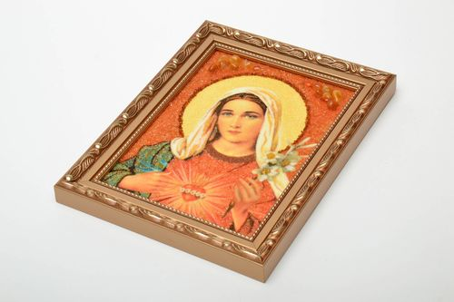 Orthodox icon with amber - MADEheart.com