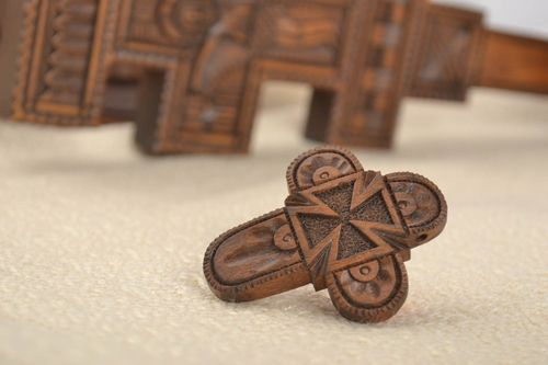 Handmade cross pendant wooden jewelry spiritual gifts cross necklace for women - MADEheart.com