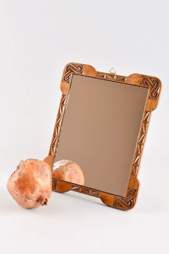 Handmade stylish mirror wooden framed mirror unique home interior decoration - MADEheart.com