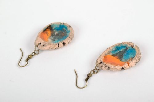 Ceramic and glass earrings - MADEheart.com