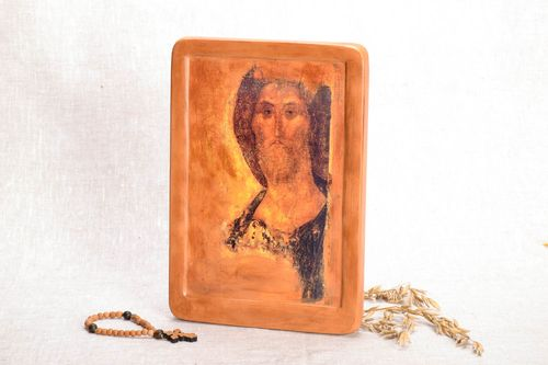 Reproduction of icon of Andrei Rublev The Savior of Zvenigorod - MADEheart.com