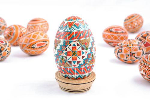Bright handmade Easter egg with unusual pattern - MADEheart.com