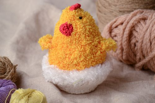 Soft crochet toy chicken in egg - MADEheart.com