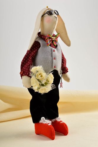Handmade rag doll stuffed soft toy cool bedrooms small gifts decorative use only - MADEheart.com