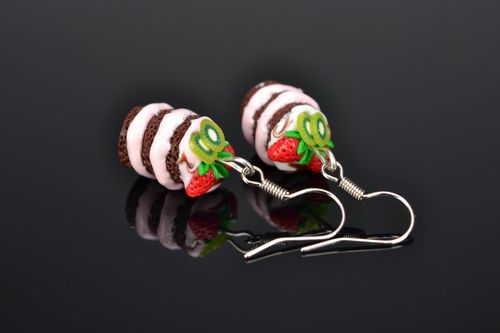 Polymer clay earrings Muffins - MADEheart.com