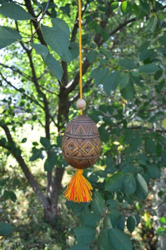 Easter egg handmade wood decoration decorative egg Easter presents wall hanging - MADEheart.com
