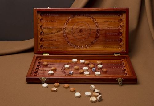 Wooden backgammon  - MADEheart.com