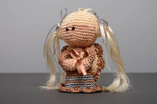 Crochet doll with bell - MADEheart.com