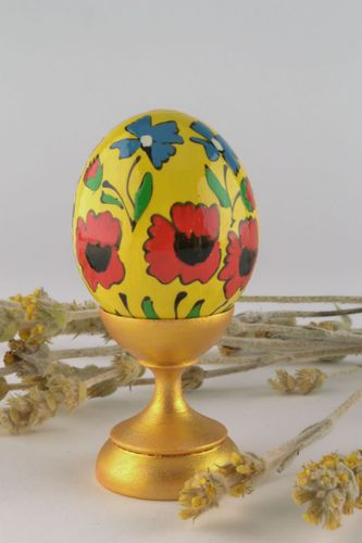 Decorative egg with painting - MADEheart.com