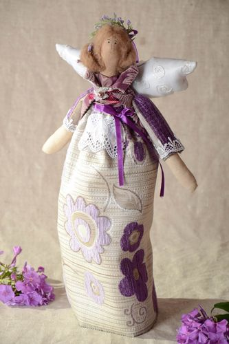 Designer textile doll handmade stylish home decor interesting accessories - MADEheart.com