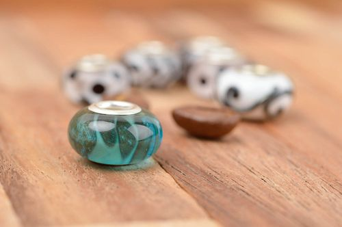 Unusual handmade glass bead lampwork glass beads art and craft small gifts - MADEheart.com
