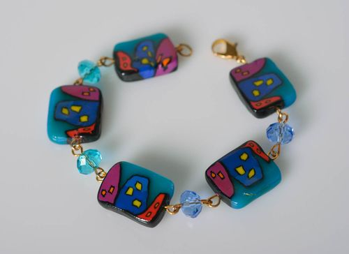 Handmade bracelet fashion jewelry polymer clay bead bracelet gifts for women - MADEheart.com