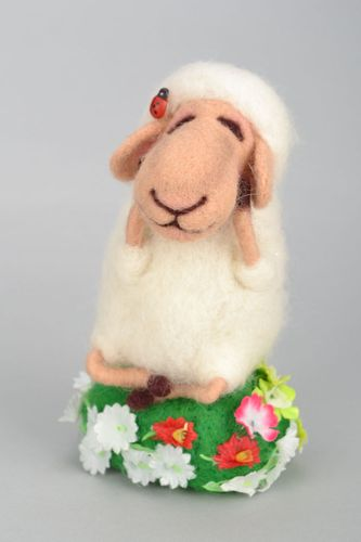 Soft toy Sheep in the Meadow - MADEheart.com