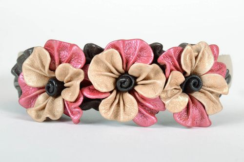 Leather Headband  - MADEheart.com