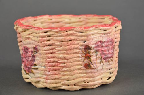 Handmade decorative basket wicker basket woven basket decorative use only - MADEheart.com