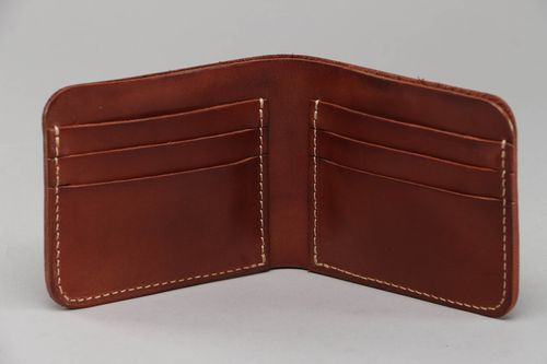 Mens wallet made of brown leather - MADEheart.com
