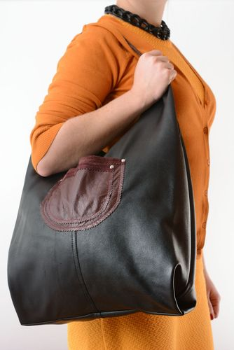 Large leather bag - MADEheart.com