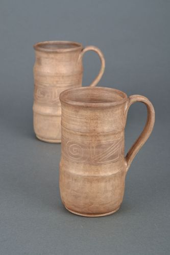 Ceramic beer mug kilned with milk - MADEheart.com
