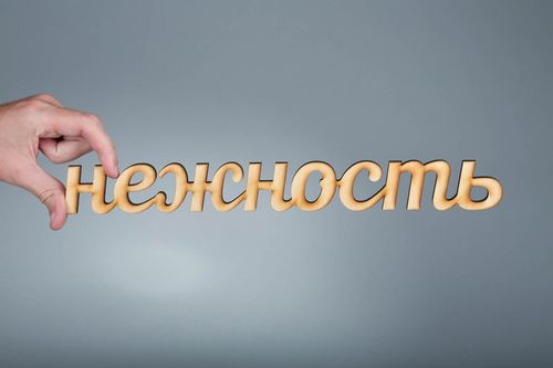 Chipboard-lettering made of plywood Нежность - MADEheart.com