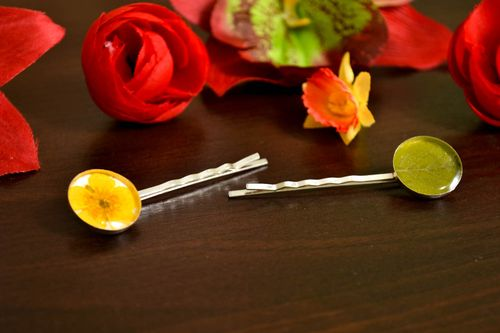 Unusual handmade botanical bobby pin 2 pieces hair ornaments gifts for her - MADEheart.com