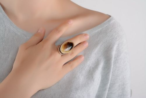 Ring made of horn - MADEheart.com